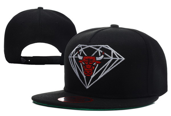 Diamond Bull Black Snapback Hat XDF2 0512